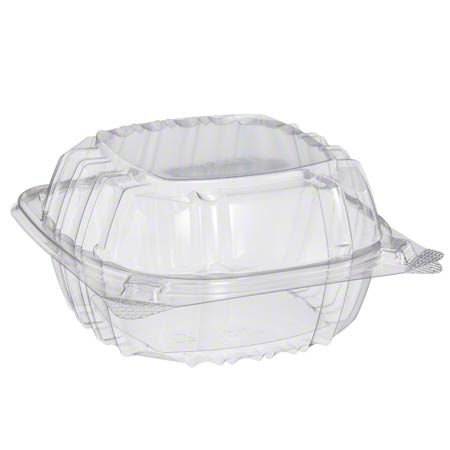 """Dart® ClearSeal® Clear Hinged Lid Container -6"""" Sandwich"""