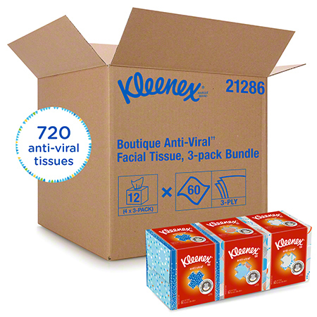 Kleenex® Anti-Viral Facial Tissue - 60 ct