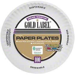 "AJM Gold Label Paper Plate - 9"""