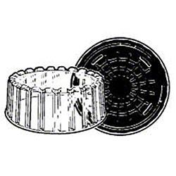 "Pactiv 8"" Cake w/Shallow Dome"