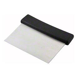 """Winco® Dough Scraper - 6"""" x 3"""" w/Plastic Handle"""