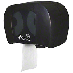 PRO-LINK® green™ Aspire® Twin Tissue Dispenser -Black