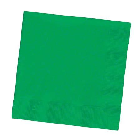 139184154 BEV NAP EMERALD GRN 12/50CT 2PLY 10X10 GREEN