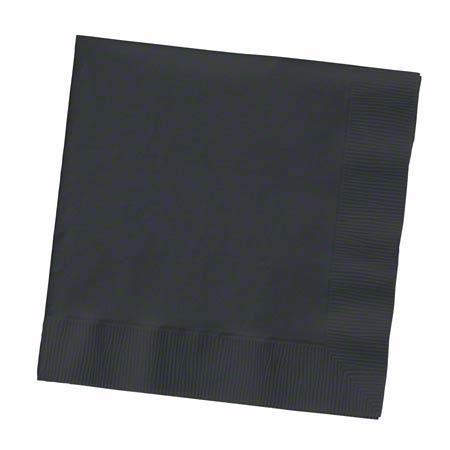 139194154 NAPKIN 10x10 BLACK VELVET, BEVERAGE 2-PLY 12/50CT