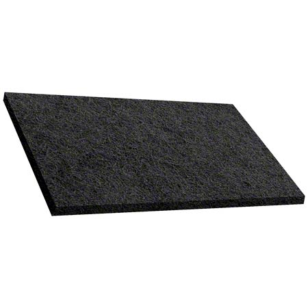 101218 12X18 BLACK STRIP PAD RECTANGLE 5/CS