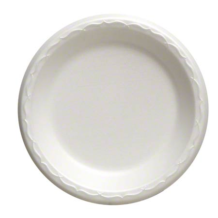 "80700 7"" PLATE UNLAMINATED WHITE  8/125"