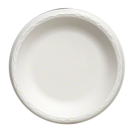 "80900 8.88"" WHITE FOAM PLATE 4/125CT 500/CASE UNLAMINATED"