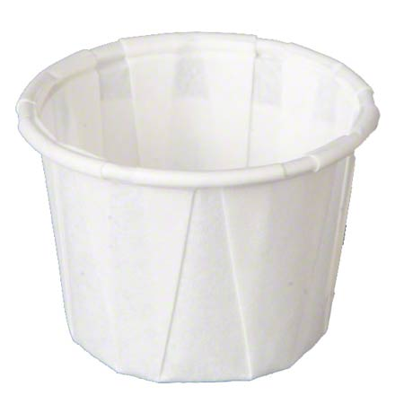 F075 0.75oz PORTION CUP PAPER PLEATED WHITE 5000/CS