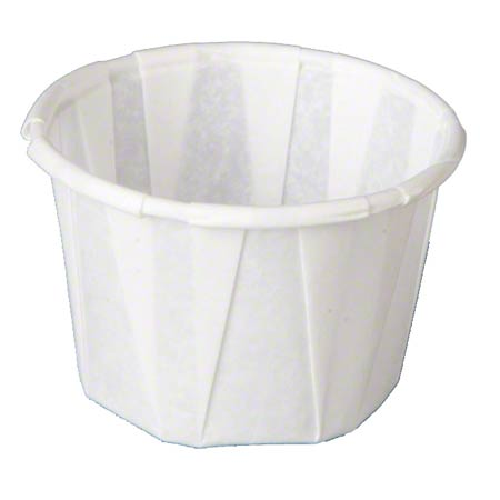 F100 1oz PORTION CUP PAPER PLEATED WHITE 20/250CT 5000/CS