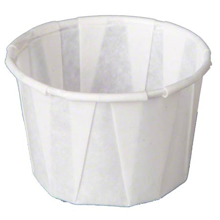 F125 1.25oz PORTION CUP PAPER PLEATED WHITE 20/250CT 5000/CS