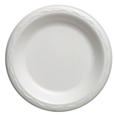 "LAM06 6"" FOAM PLATE WHITE 8/125 1000/cs LAMINATED ELITE"