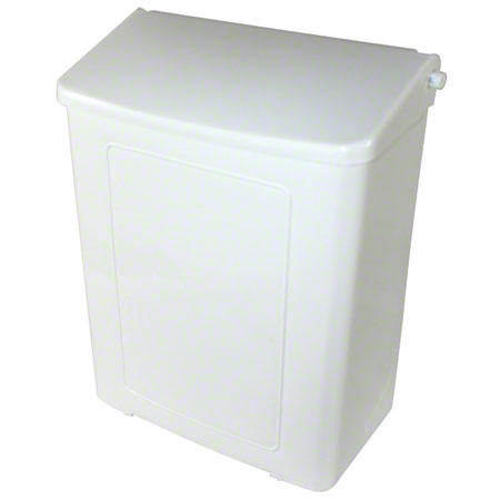 1102 RECEPTACLE FOR SANITARY NAPKIN PLASTIC, WHITE SAFE-USE