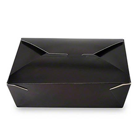 FTB3BK #3 BLACK BOX 200/cs TAKEOUT FOLDED 66oz