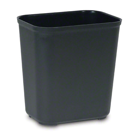 2543 BLACK FIRE RESISTANT CAN 28QT, UL CSFM CERTIFIED