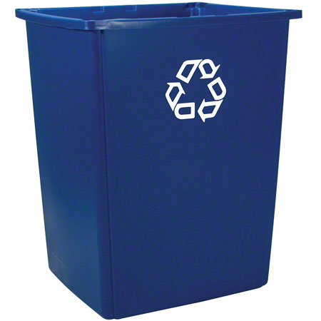 256B-73 56-GAL RECYCLING CONTAINER, BLUE GLUTTON