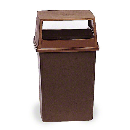 256V HOODED TOP FOR GLUTTON CONTAINER, BROWN W/O DOORS