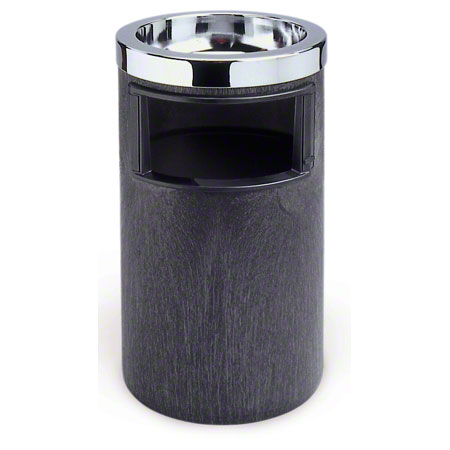 2586 SMOKING URN, ASH/TRASH w METAL TOP & LINER BLACK/CHROME
