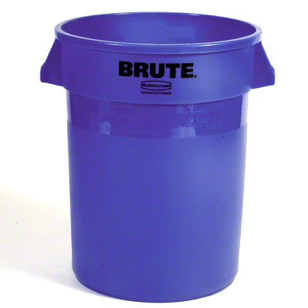 FG263273 32 GAL BLUE RECYCLING CONTAINER W/OUT LID BRUTE