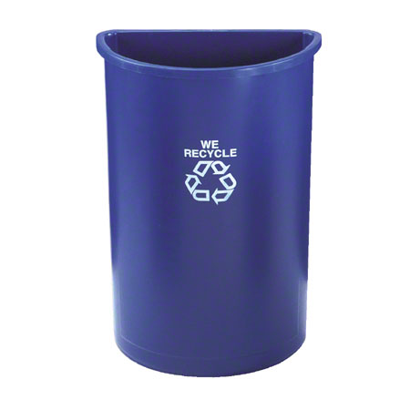 352073 21gal HALF-ROUND BLUE RECYCLE CONTAINER