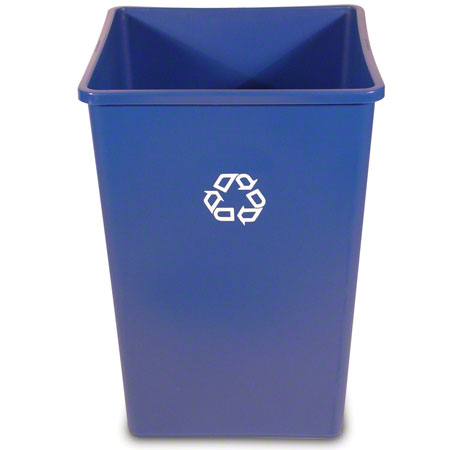 395873 BLUE 32gal SQUARE  RECYCLE CONTAINER