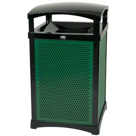 9W59 32-GAL TRASH RECEPTACLE  w/ SOLID PANELS UPRIGHTS,