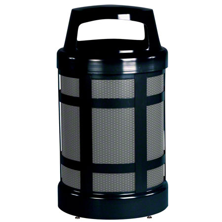 A38BK 38-GAL OUTDOOR CONTAINER w/ HINGED CANOPY TOP, FIRE