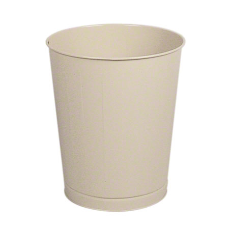 WB44AL 44-QT ROUND WASTEBASKET OPEN TOP, STEEL UL CLASSIFIED,