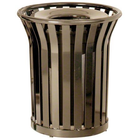 MT32 36-GAL OPEN TOP OUTDOOR RECEPTACLE WIDESLAT BRONZE