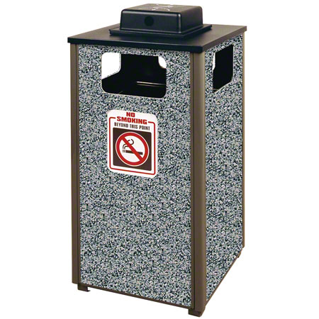 R18WU 24-GAL OUTDOOR RECEPTACLE w/ ASH/TRASH