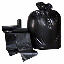 Colonial Bag Coreless Roll - 40 x 48, 16 mic, Black