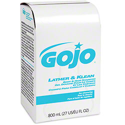 GOJO® Lather & Klean Body & Hair Shampoo - BIB 800 mL