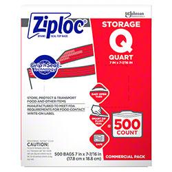 SCJP Ziploc® Quart Storage Bag - 500 ct.