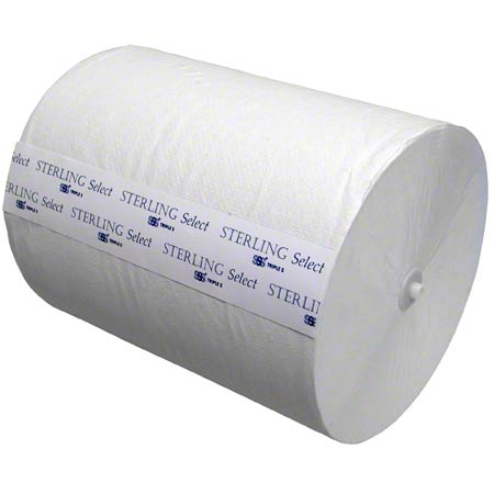 "SSS® Sterling Select™ 8"" Hardwound Roll Towel - White"