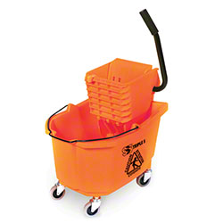 SSS® HD Side Press Wringer Bucket Combo - 35 Qt., Orange