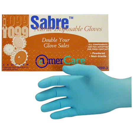 AmerCare® Sabre™ Nitrile Disposable Glove - Large