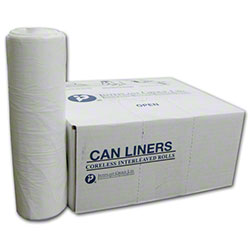Inteplast LLDPE Institutional Can Liner-30x36, 0.80 mil, WH