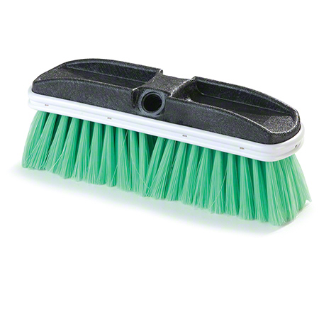 "BRUSH 10"" FLO THRU FINE  GRN NYLEX BRISTLE"