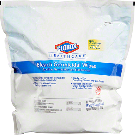 WIPE GERMICIDAL REFL 2/110 SIZE 12X12 HEALTHCARE