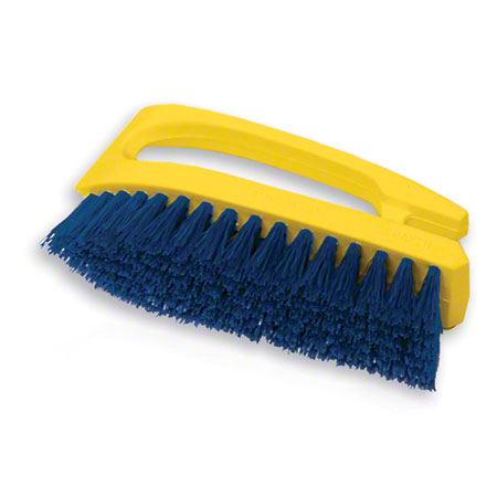 "BRUSH SCRUB 6"" BLU IRON HDL POLYPRO YELL HANDLE EACH"
