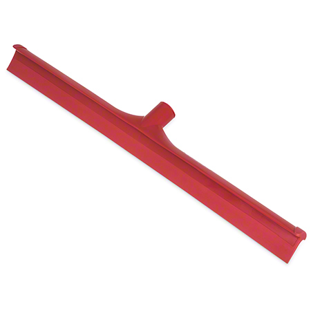 "Carlisle Spectrum® 1-Pc Rubber Floor Squeegee - 24"", Red"