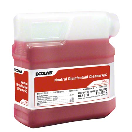 Ecolab® QC™ Neutral Disinfectant Cleaner - 1.3 L