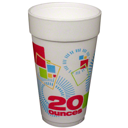 Convermex® Celebrate Design Foam Cup - 20 oz.