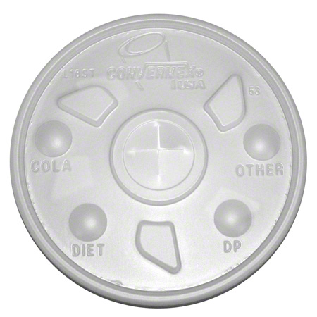 Convermex® Straw Slot Translucent Lid for 12/16/20/24 oz.