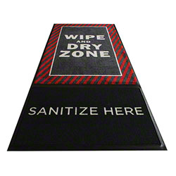 M + A Matting StepWell Sanitizing Mat w/Insert - Red Border
