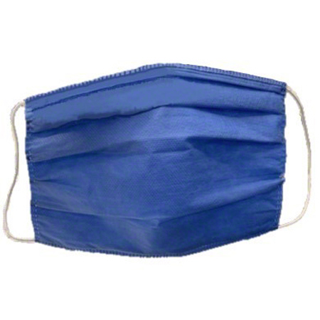 Hospital Grade 3-Ply Pleated Blue Face Mask