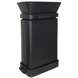 SmartcanMax™ Receptacle w/Funnel - 23 Gal., Black