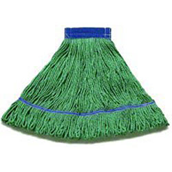 Hillyard High Performance Looped-End Wet Mop - Medium, Green
