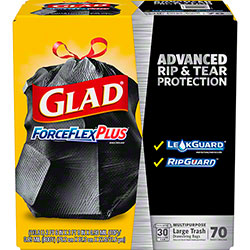 Glad® ForceFlexPlus™ 30 Gal. Drawstring Trash Bag - 70 ct. Box