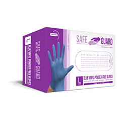 SafeGuard Blue Vinyl Powder Free Glove - Small