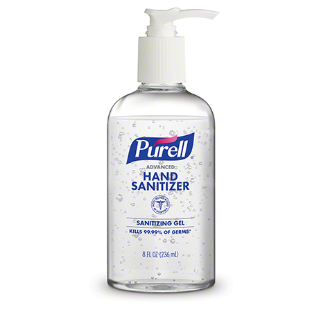GOJO® Purell® Advanced Hand Sanitizer Sanitizing Gel - 8 oz. Pump